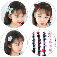 2019 Children's Tiara Hair Accessories Classic Side Clip Bow All-inclusive Hairpin Hairpin Jewelry Set Gift Girl classic Beauty