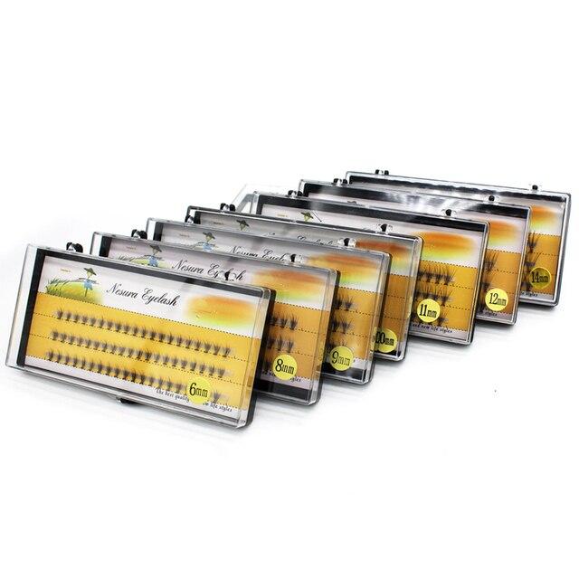 1 Box Big Capacity 60 Bundles 10D Eyelash Extensions 0.07mm Thickness Handmade 3D Individual Lashes Natural Style 5