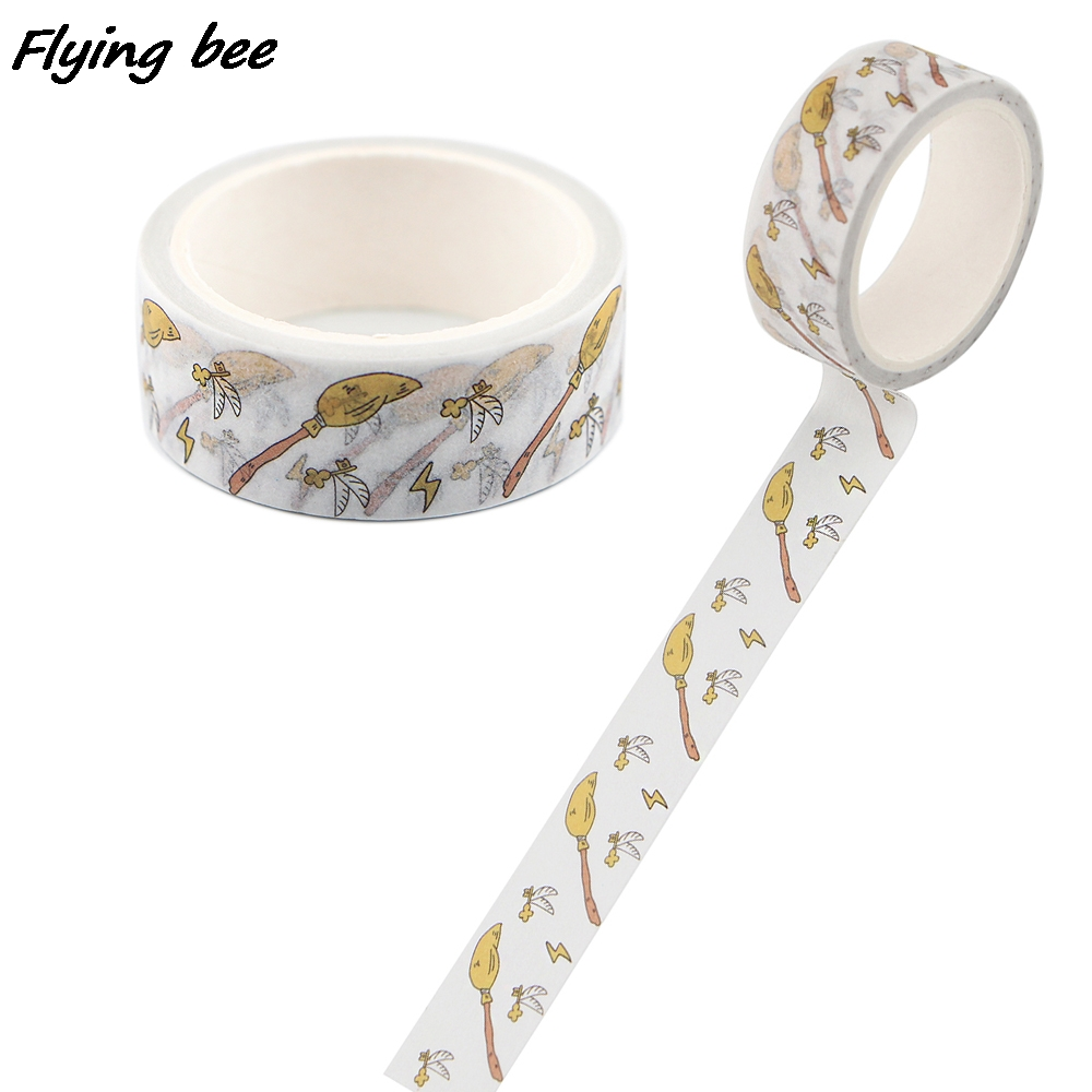 Flyingbee 15mmX5m Fashion Washi Tape Paper DIY Decorative Adhesive Tape Stationery cool Masking Tapes Supplies X0776