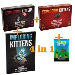 Adulto jogos de tabuleiro nsfw edição gatinho original edição família festa estratégia explodir divertido cartas jogo criança brinquedo