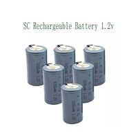 15 Uds SC 3200MAH 1,2 V batería recargable 4/5 SC Sub C ni-cd celda con solapas para destornillador de taladro eléctrico 3200