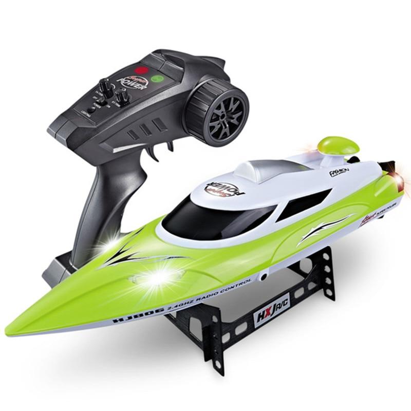 Hj806 rc barco elétrico 35km/h de alta velocidade rádio controle remoto lancha corrida navio barcos steerable brinquedo vs feilun ft012 ft011