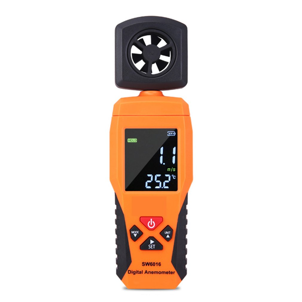 Digital Anemometer Thermometer Temperature Tester Portable Wind Air Speed Gauge Meter Windmeter Measuring