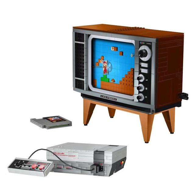 Galleria fotografica Nuovo 71301 Super Marioed NES Console <font><b>Nintendo</b></font> Entertainment System Modello Blocchi di Costruzione di Mattoni TV Gioco Per Bambini Giocattoli Per Bambini Regali