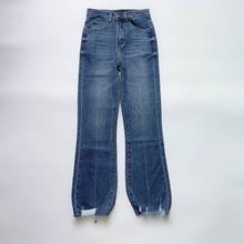 Jeansy damskie casual wild micro jeansy rozkloszowane 2020 wiosna lato nowe tanie tanio COTTON spandex Lyocell Kostki długości spodnie PA128 WOMEN Na co dzień Zmiękczania Zipper fly Zgrywanie Spodnie pochodni