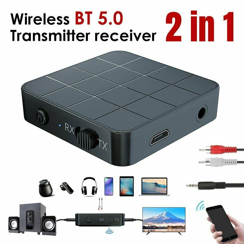 iMars KN321 <font><b>bluetooth</b></font> <font><b>5.0</b></font> Audio Receiver Transmitter AUX RCA USB 3.5mm Jack Stereo <font><b>Adapter</b></font> for TV Headphone PC <font><b>Car</b></font> CD Player image