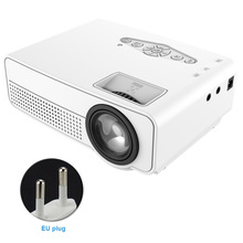 1080P Mini Projector LED Light With Remote Control Video For Smartphone Beamer T
