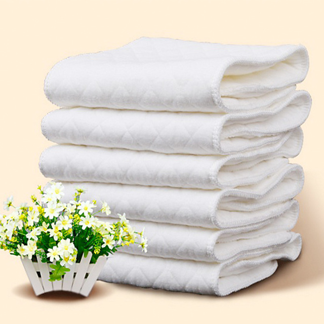 Reusable Baby Diapers Cloth Scarves 1 Piece 3 Layers 100% Cotton Washable Eco-Friendly 10 Pcs