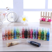 New children's painting 19 color window glue glass painting pigment DIY glass glue children brush painting supplies tools