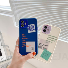 Fashion Letters Label Paar Telefoon Case Voor Iphone 12 Mini 11 Pro Max 7 8 Plus Se 2020 X Xr xs Max Plating Leuke Soft Cover Shell