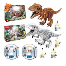 Jurassic World  Dinosaurs Tyrannosaurus Rex Pterosauria Triceratops Building Blocks Toys For Children Dinosaur Park Toy Gifts blocks toy loz mini kids blocks jurassic world building blocks lot huge dinosaurs jurassic park christmas toys for children