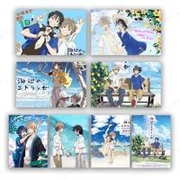 Anime Poster Umibe no Etranger Chibana Mio Hashimoto Shun cuadro sobre lienzo para pared decoración del hogar arte imagen