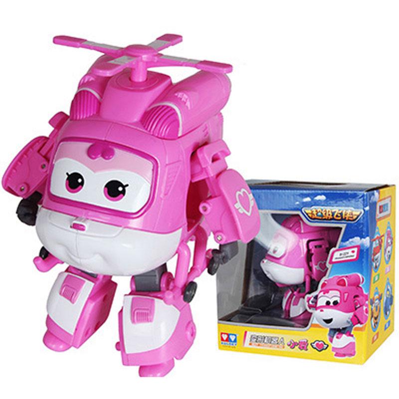 Большой! 15 см ABS Супер Крылья деформация самолет робот фигурки Супер крыло Трансформация игрушки для детей подарок Brinquedos - Цвет: With Box DIZZY