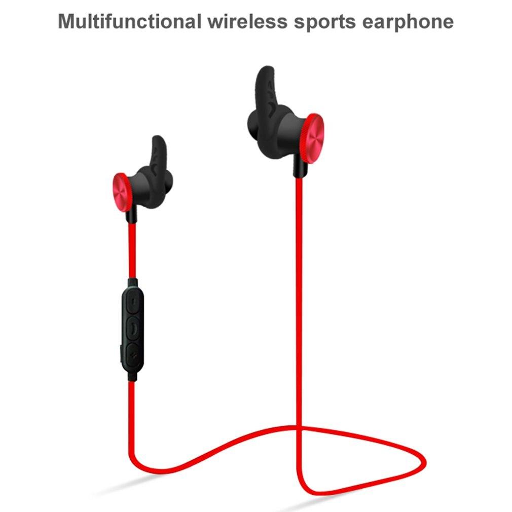 Sport Bluetooth Headphone Wireless Earphones Waterproof Headset For mobile Phones Flat Other Devices