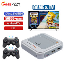 Super Console X-PRO Retro TV Game Video Game Console With Wireless Controllers Built-in 50 Emulators 50000 Games For PS1/N64/DC