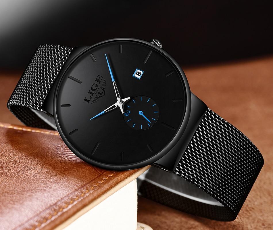Hcd551c28624443c6af3320cf11386c52s New LIGE Mens Watches Casual Fashion Gift Men Watch Business Waterproof Quartz Watch Full Steel Clock Relogio Masculino+Box