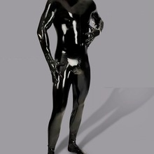 Jumpsuit Sexy Lingerie Pu-Latex Glove Tight Gay-Wear Full-Body-Cover Men with M115 U-Convex-Pouch