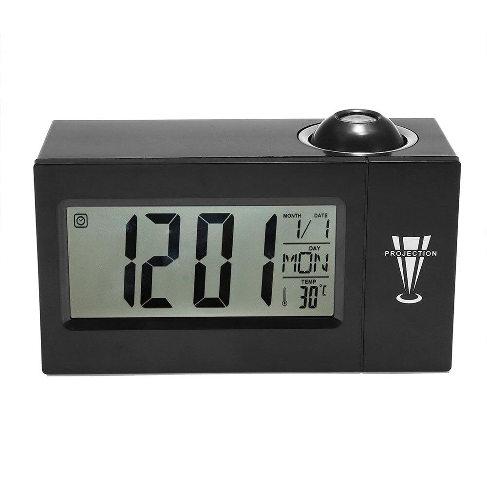 LED Projection Temperature Snooze Creativity Digital Alarm Clock Clock Watch LCD ABS Desk Night Lamp Business Timekeeping