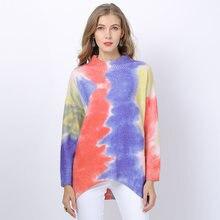 Женская зимняя одежда вязаный свитер джемпер оверсайз пуловер