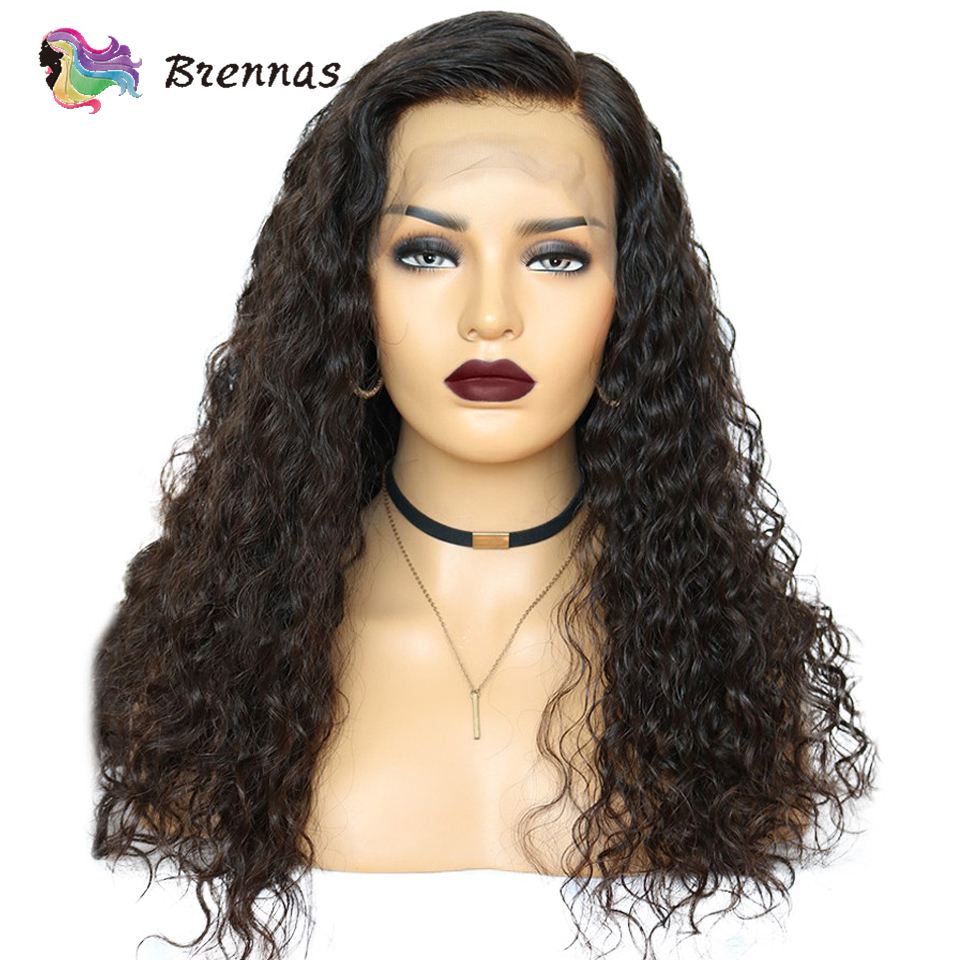 Deep Wave Lace Wigs Human Hair Lace Wig Natural Color 13*4 Lace Wig Bleached Knots Brazilian Non Remy Hair 150% Density 8''-26''
