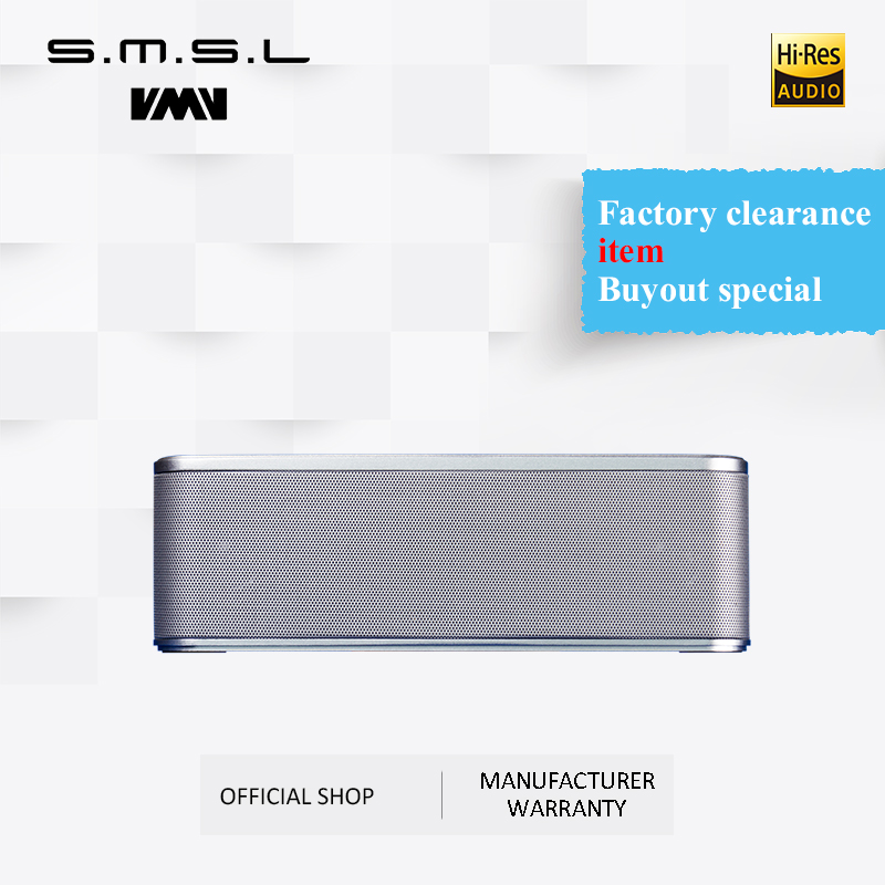 VMV SMSL A5 Portable Bluetooth Speakers BT4.2 with Loud Stereo Sound, Rich Bass, Hands-free Calling,FM Fuction,TF card & U Disk