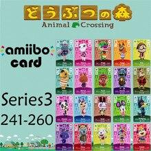 Пересечение животных подлинных данных новые горизонты игры Марио карты для NS переключатель 3DS игра набор NFC-карты выводятся в ряд series3 241-260 матовый материал