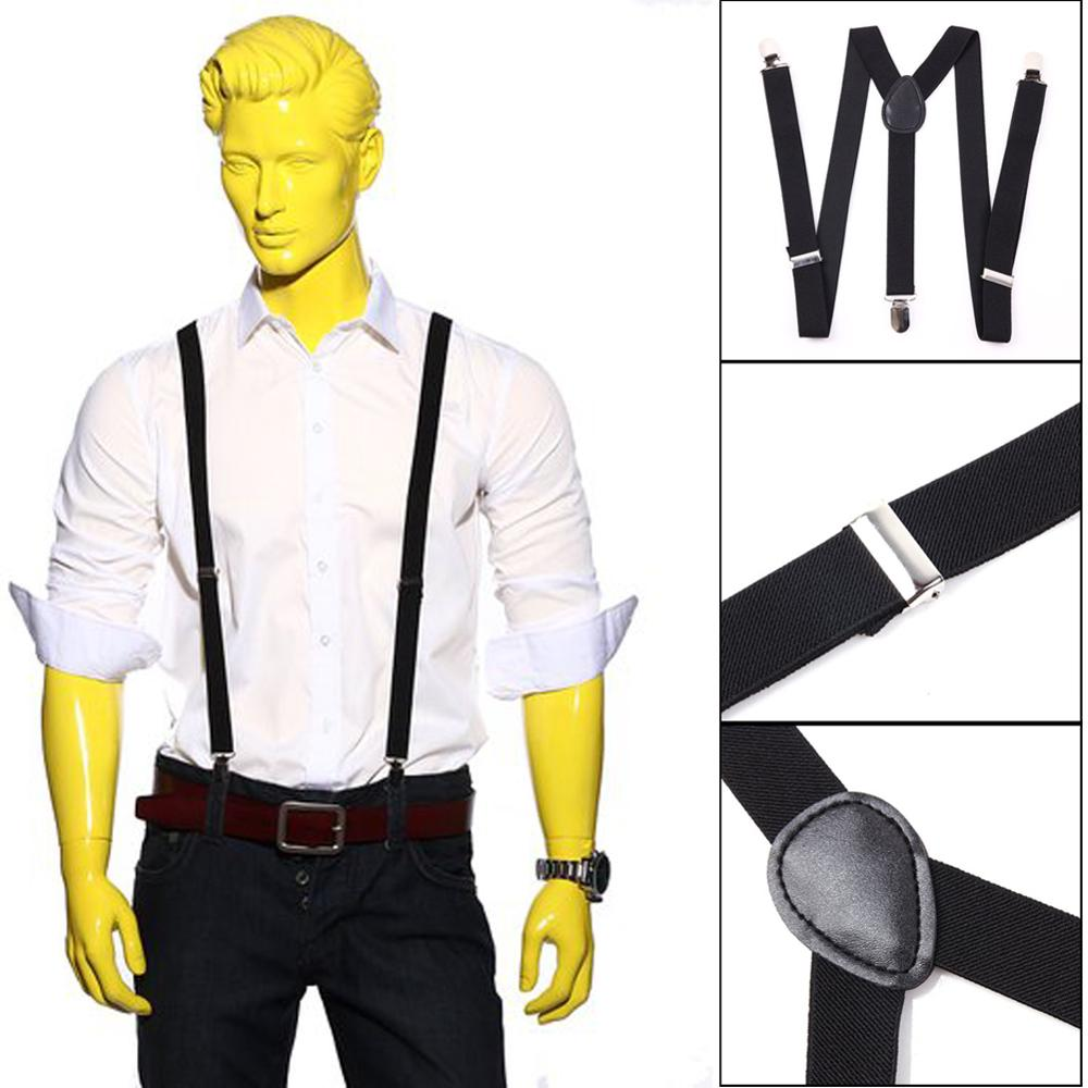 MENS LADIES UNISEX SLIM ADJUSTABLE BRACES CLIP ON TROUSER SUSPENDERS FANCY DRESS