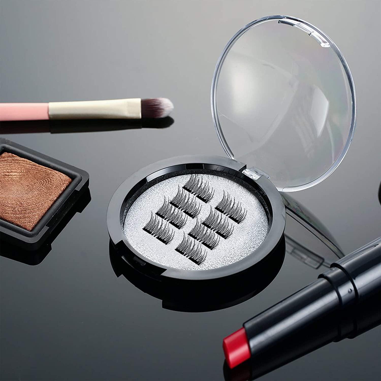 MB New 8Pcs Magnet Mink Lashes 100% Magnetic Eyelashes Natural Hair False Eye lashes 3D Fake Lash Fluffy Faux Cils magnetique 2