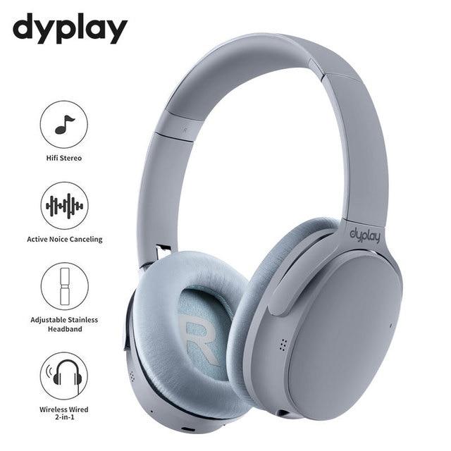 نشط إلغاء الضوضاء سماعات سماعة لاسلكية تعمل بالبلوتوث سماعات مع علبة صندوق سماعة أذن مع ميكروفون ل هواتف محمولة