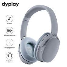 Cancelamento de ruído ativo fones de ouvido sem fio bluetooth fones com caixa caso sobre a orelha fone com microfone para telefones celulares