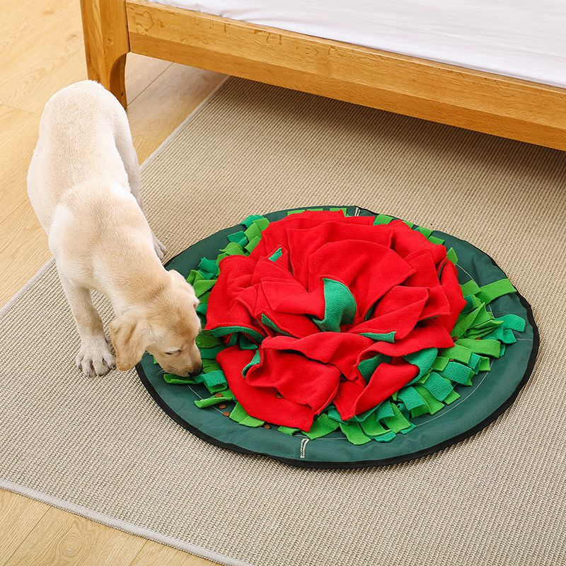 Couverture de dressage pour animaux de compagnie lavable nez pour animaux de compagnie Puzzle jouet alimentation tampons lavables pour encourager les compétences de recherche de nourriture naturelles