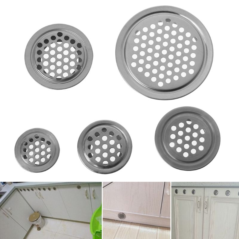 1PC Stainless Steel Air Vent Hole Ventilation Louver Round Shaped Venting Mesh Holes