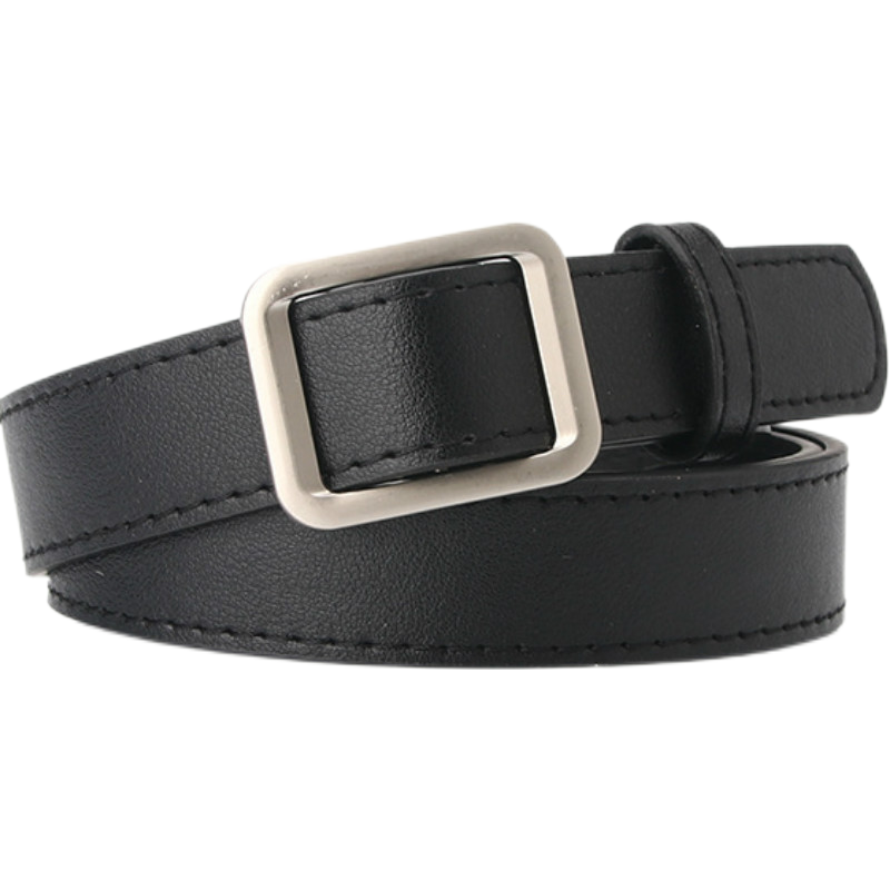 High Quality Female Black Brown White Coffee Women's Belt Simple No-needle-free Punch-free CasualAll-match Decorative Belt