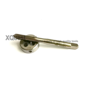 Image 3 - HSSE Metric screw Hand tap Split Die set M6 M6X1.25 M6X1 Fine thread Round dies taps M6X0.75 M6X0.5  for stainless steel