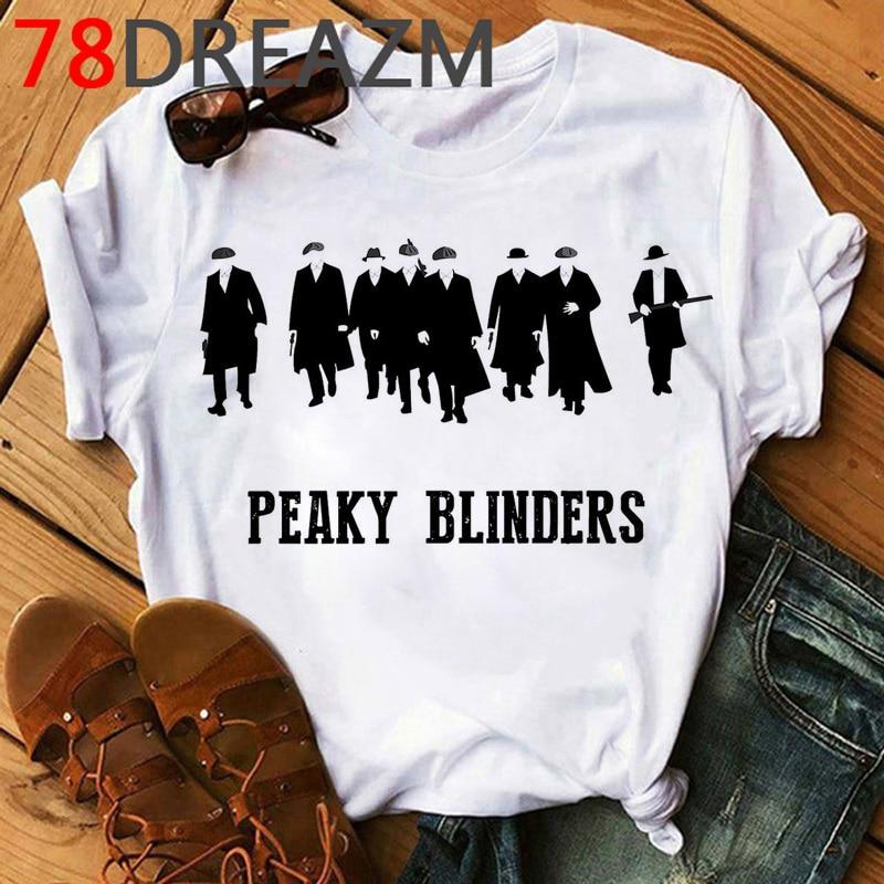 New Peaky Blinders T Shirt Men Summer Top Streetwear Hip Hop Kawaii Graphic Tees Oversized Unisex Funny Print T-shirt Male