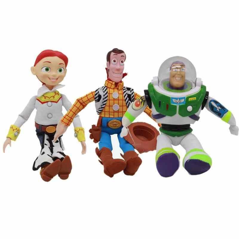 Pixar Movie Toy Story 4 Forky madera zumbido Lightyear muñecas de peluche suave juguetes de peluche decoración 20/35 /regalo para niños de 45CM