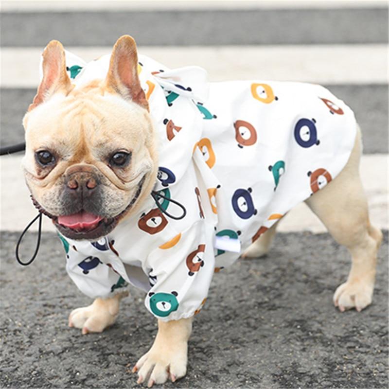 Pet Dog Raincoat Waterproof Outdoor Dogs Clothes Chihuahua French Bulldog Pug Dog Rain Coat Pets Cartoon Jackets Pet Supplies