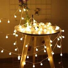 Сказочная гирлянда 50 м светодиодный шар гирлянды Рождественские лампочки сказочные декоративные световые гирлянды для праздника, свадебной вечеринки