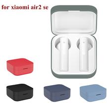 Etui na słuchawki do xiaomi air2 se słuchawki bezprzewodowe do xiaomi air 2 se funda płynny silikonowy pokrowiec do słuchawek xiaomi tanie tanio CASPTM Słuchawki Przypadki Standard For Xiaomi Air2 Se earphone case For Xiaomi Air 2 se TPU Silicone Cover for xiaomi case