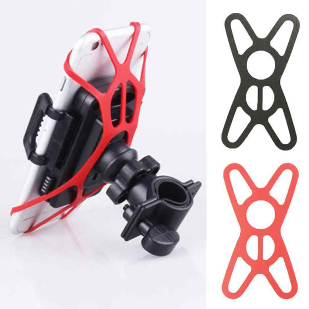 Multifunctional mobile phone bracket fixed silicone strap with bicycle navigation bracket silicone bandage