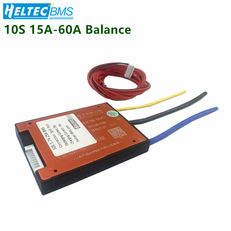 Waterproof  Bms 10S 36V 15A 25A 35A 45A 60A BMS Used For 36v 10ah 35ah 60ah Battery 60A Continuous With Balance Function