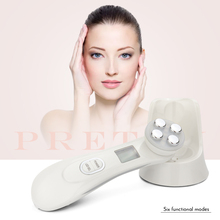 5in1 RF&EMS Radio Mesotherapy Electroporation Face Beauty Pen Frequency LED Photon Skin Rejuvenation Remover Wrinkle