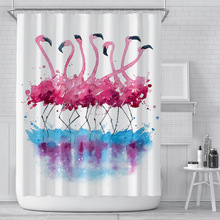 Creative 3d Shower Curtains Bathroom Curtain Waterproof Digital Printing Startrek Flamingo Bath Screens Bathroom Decoration novelty 3d end of the world digital printing shower curtain for bathroom