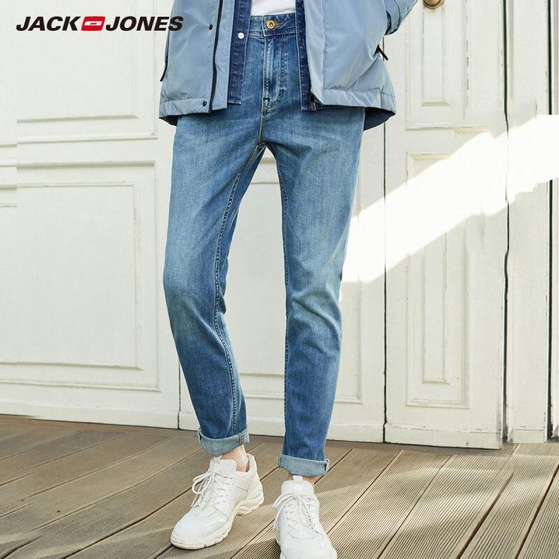 JackJones New Arrival Men's Denim Jeans Slim Fit Skinny Stretch Men Jeans Tight-leg Jeans Menswear| 219332560