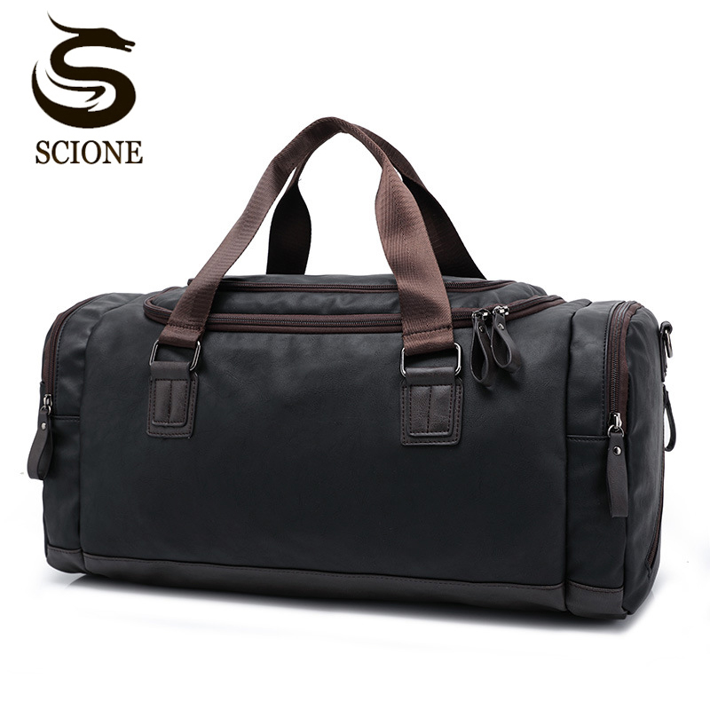 2020 New Casual PU Leather Travel Duffel Bag Large Capacity Travel Bags Men Messenger Handbags|Travel Bags| - AliExpress