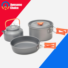 Quality Camping cookware Outdoor cookware set camping tableware cooking set travel tableware Cutlery Utensils hiking picnic set