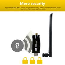 2.4G WIFI USB Lan Adapter High Gain Antenna 300Mbps Wireless Receiver Net-work Card for Windows Linux Systems L93A