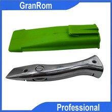 Дельфин ПВХ цинк-алюминиевый сплав ручка рулон нож для пола обои ковер режущий инструмент с 10 шт. лезвие