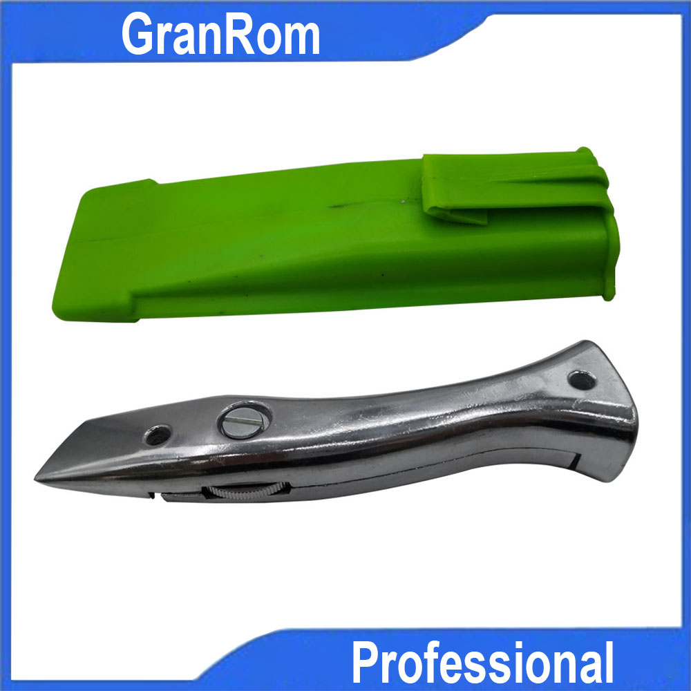 FREE SHIPPING Dolphin PVC Zinc-aluminum Alloy Handle Roll Floor Cutter Knife Wallpaper Carpet Cutting Tool With10 Pcs Blade