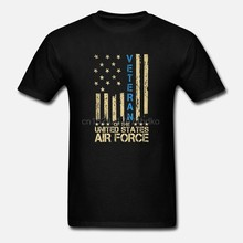 Patriottische Us Air Force Veteraan Amerikaanse Vlag T-shirt Mannen Mode Shirt(China)